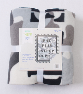 No-Sew Throw Fleece Fabric 48\u0022-Repeat