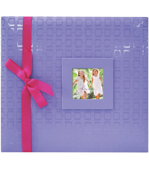 12\u0022x12\u0022 Embossed Postbound Album-Purple