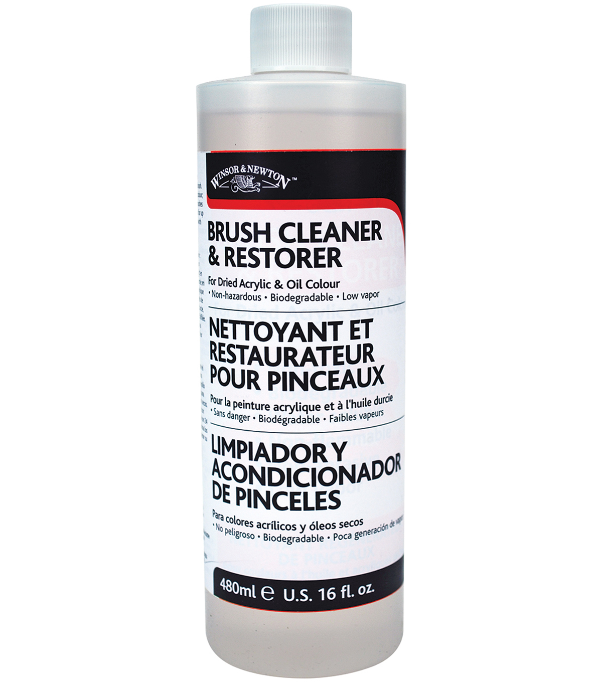 Winsor & Newton Brush Cleaner & Restorer-16oz