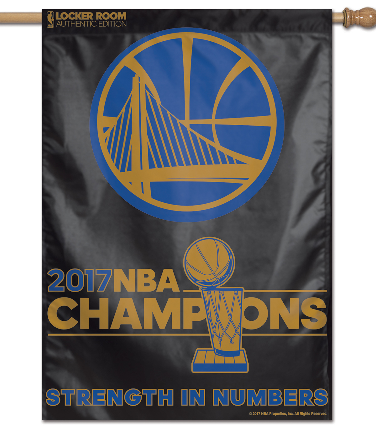 Golden State Warriors Championship Flag