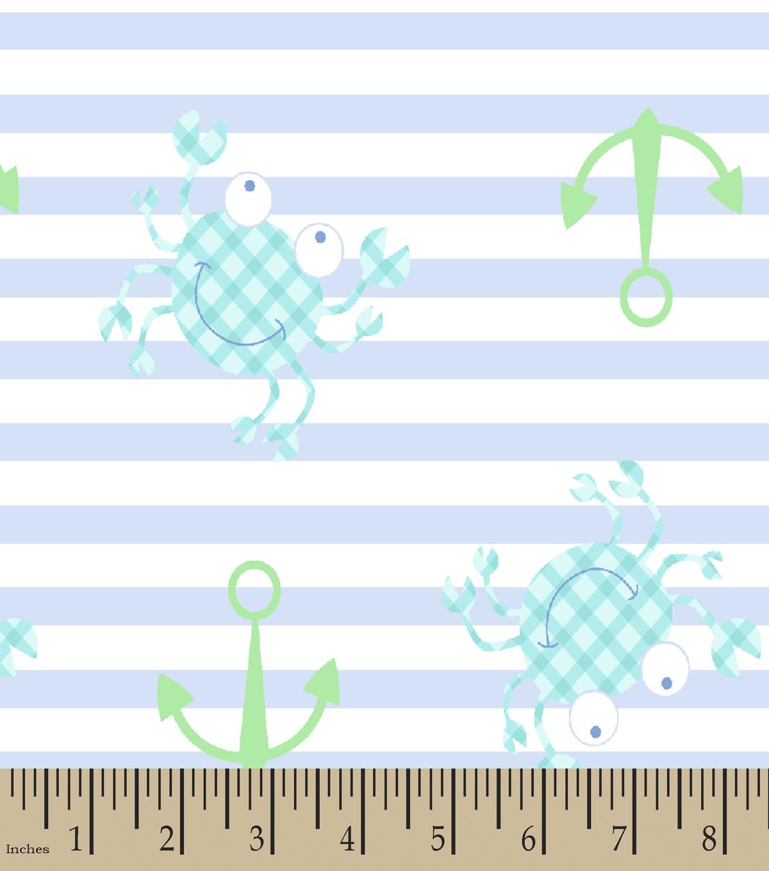 blue gingham crab print fabric joann