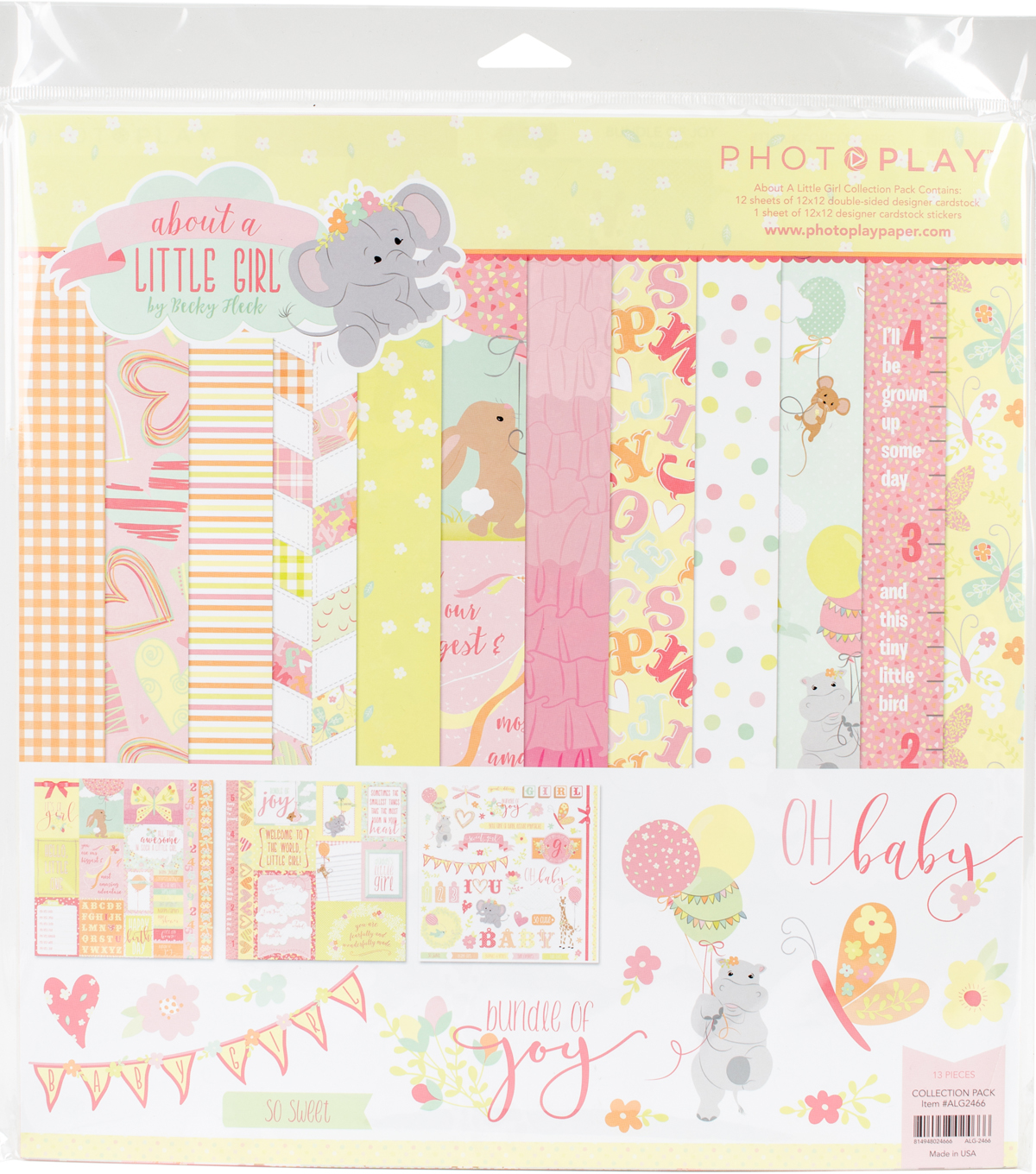 Photo Play Collection Pack 12\u0022X12\u0022-About A Little Girl