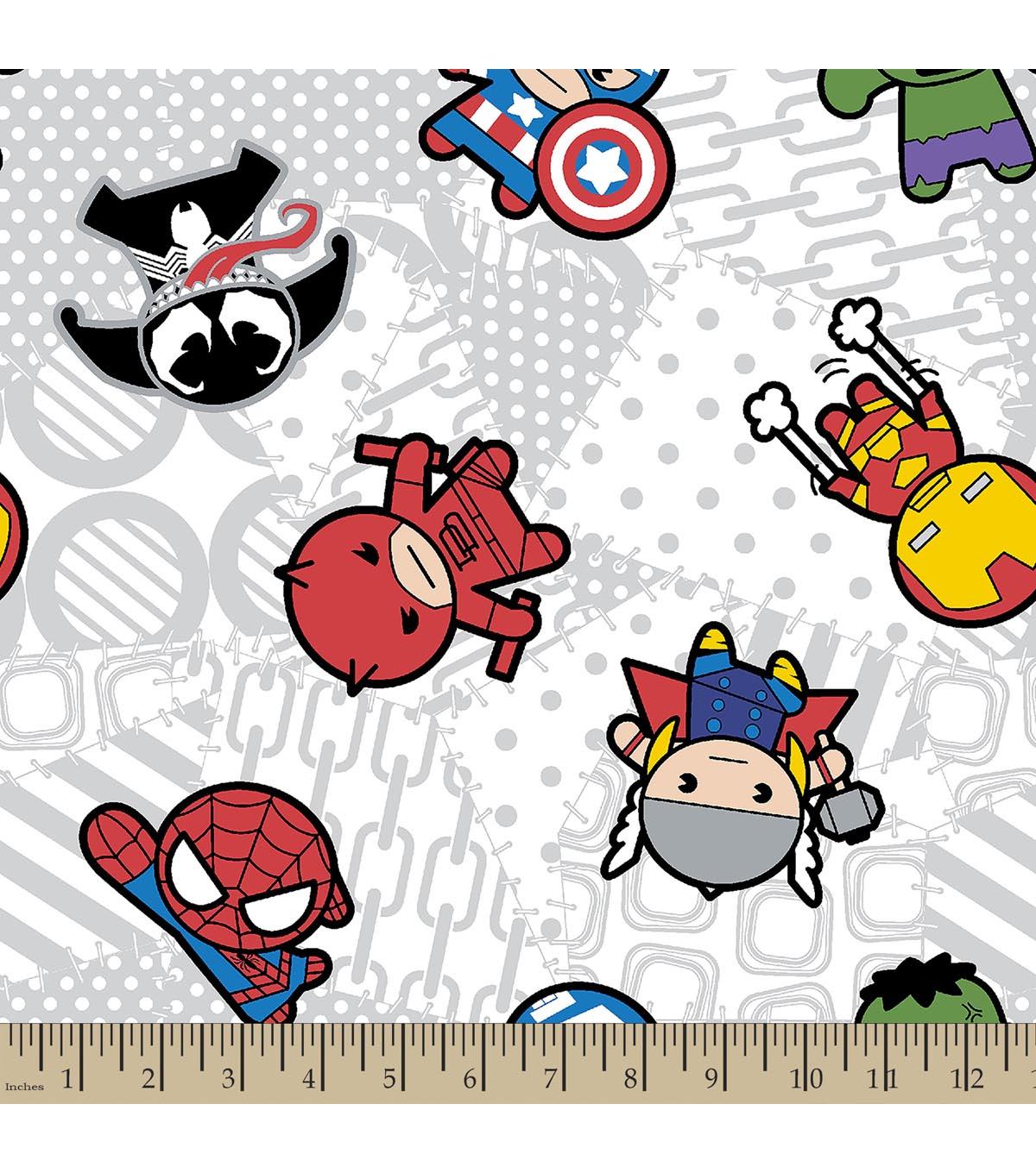 Marvel\u0027s The Avengers Print Fabric-Kawaii Characters