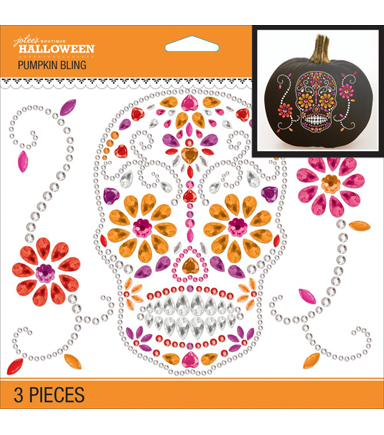 Sugar Skull Pumpkin Bling