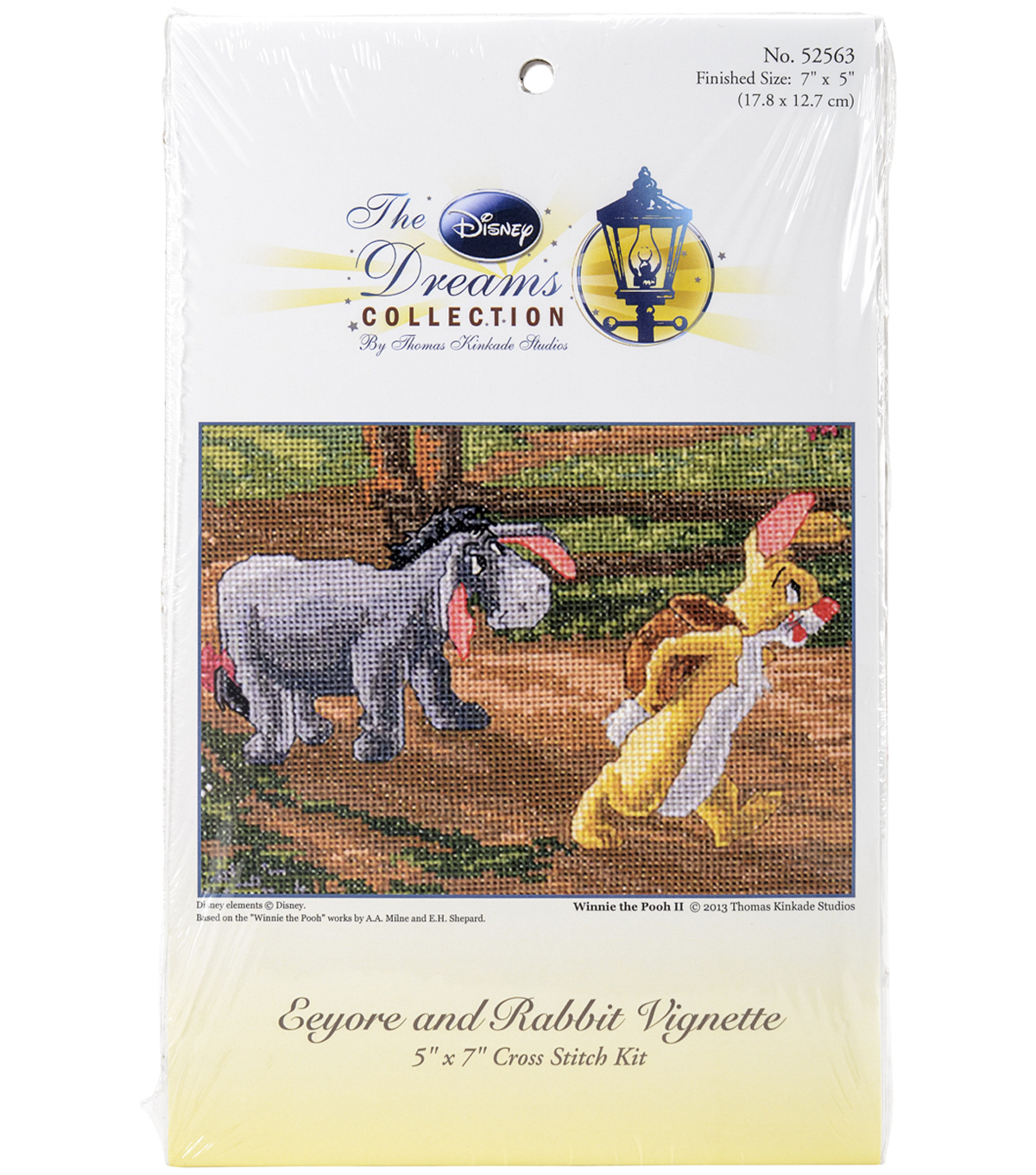 "Disney Dreams Collection By Thomas Kinkade Eeyore And Rabbit-5""X7"""