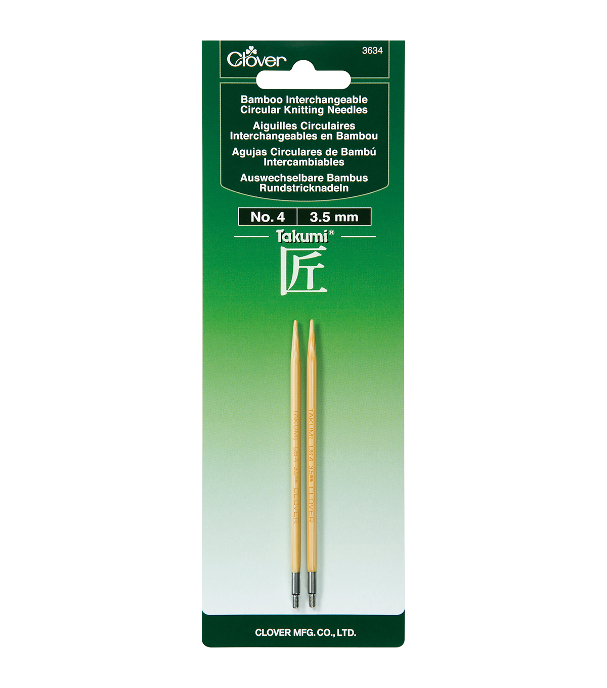 Clover Takumi Interchangeable Circular Knitting Needles Size 4/3.5mm
