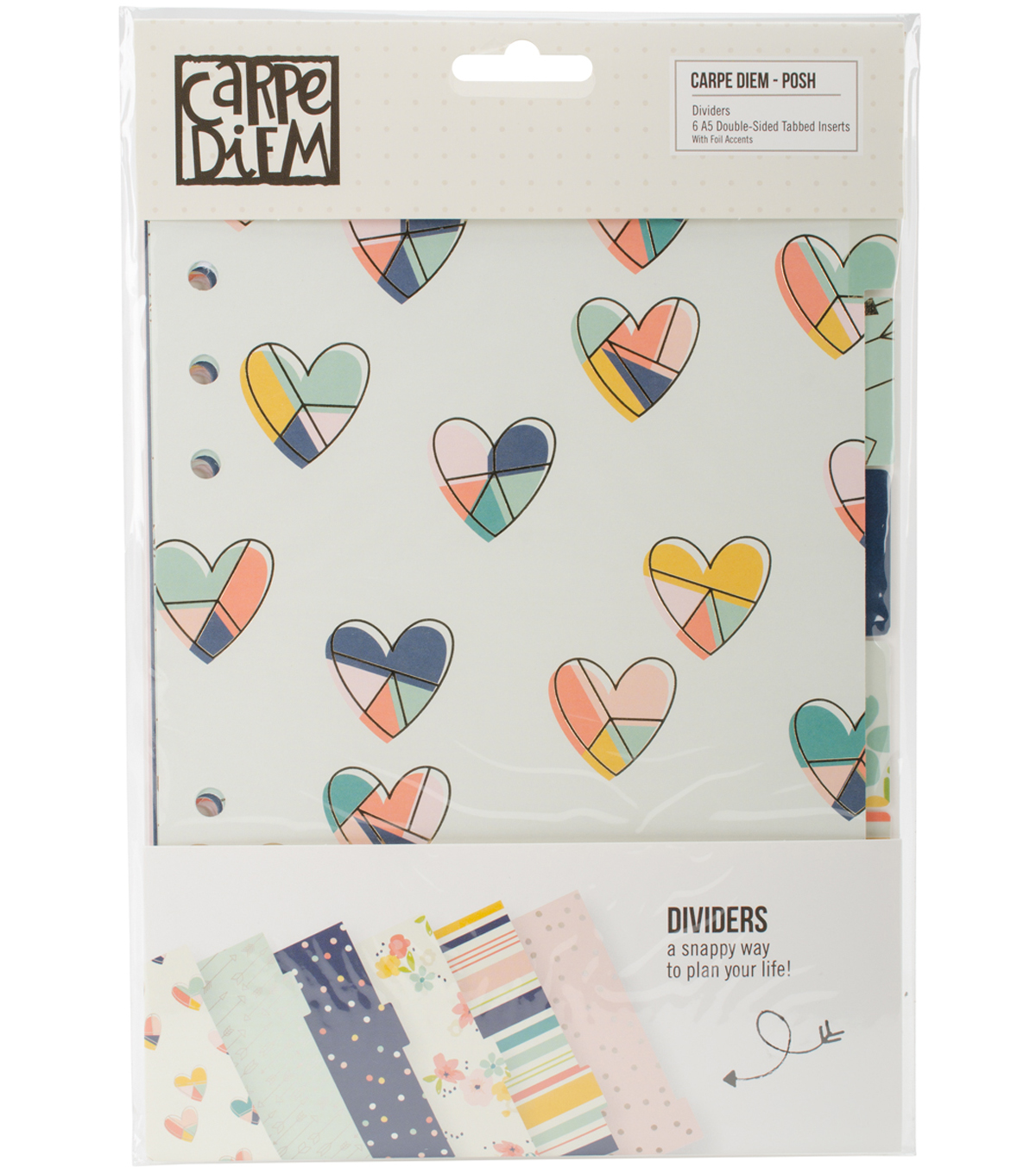 Posh Double-Sided A5 Dividers 6/Pkg-Foil Accents