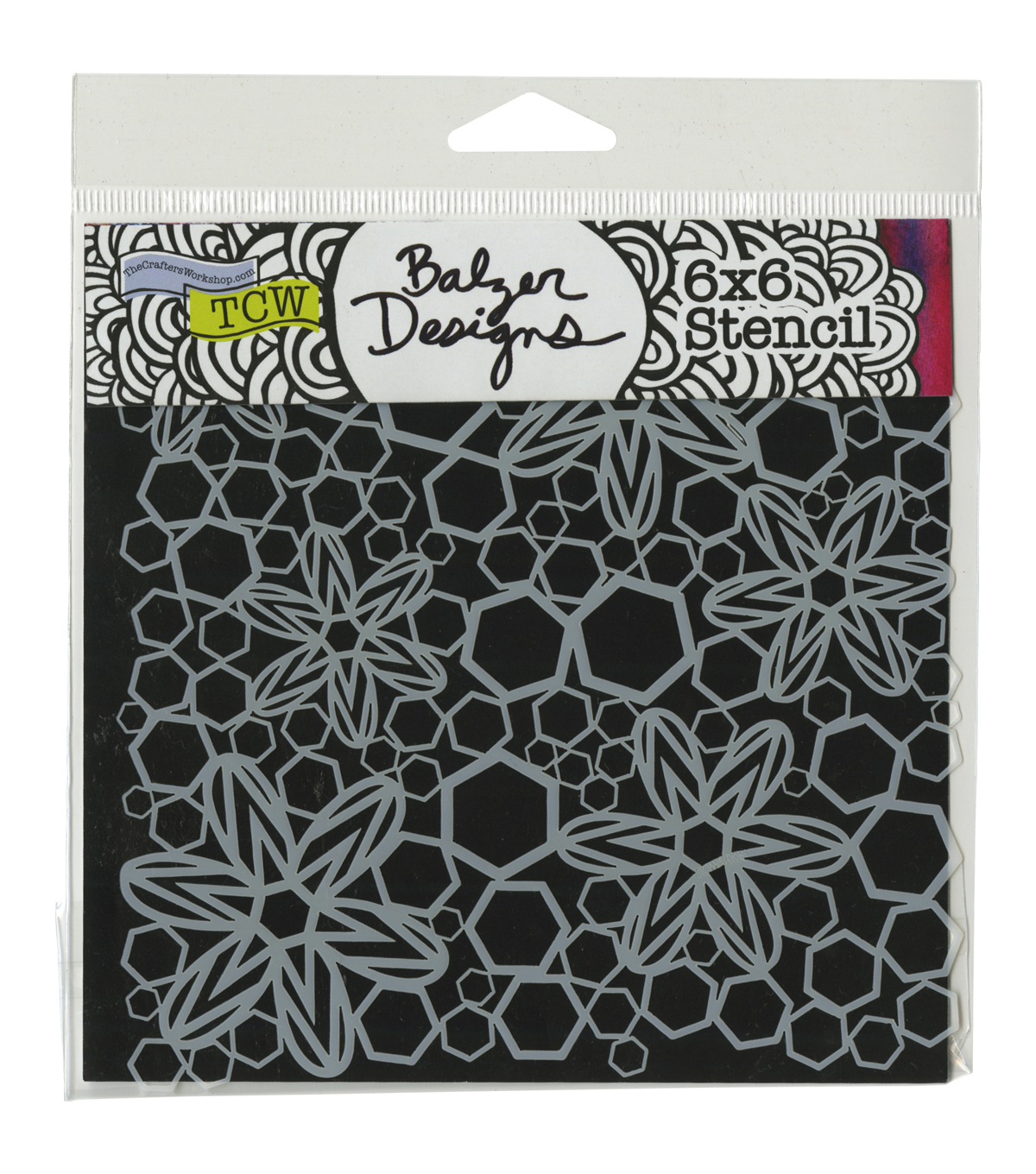 Crafter's Workshop 6''x6'' Template-Hex Flowers