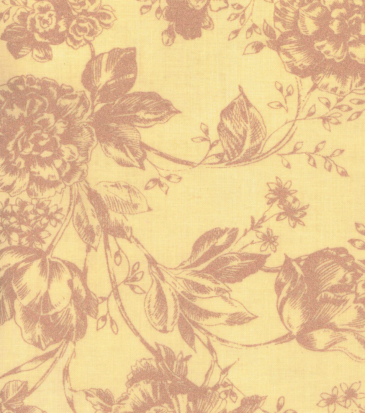 Buttercream™ Cosette Cotton Fabric 43\u0022-Gold Met Floral Yellow