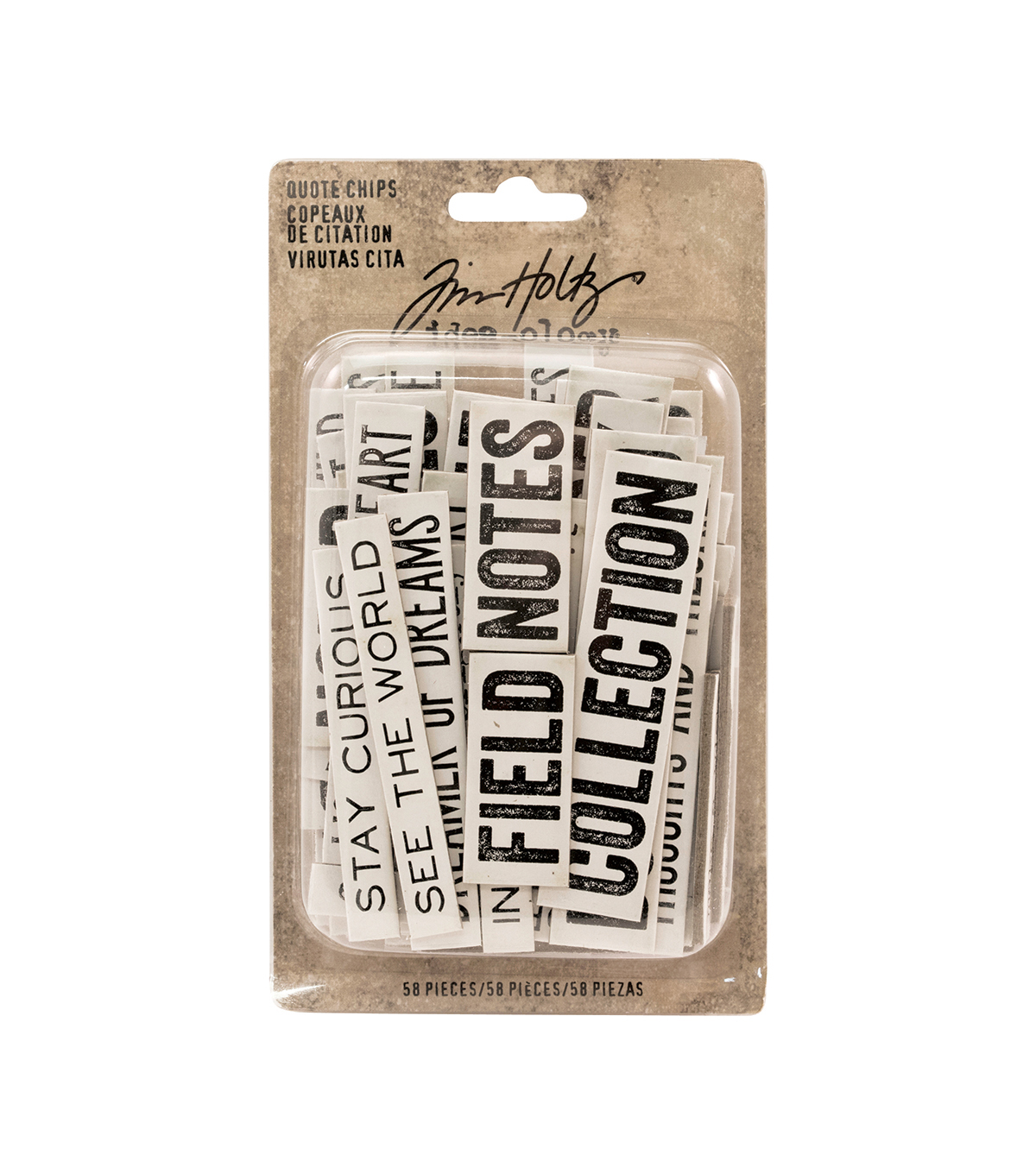 Tim Holtz® Idea-ology® Pack of 58 Quote Chips