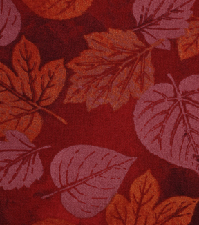 Harvest Cotton Fabric 43\u0022-Tonal Leaves
