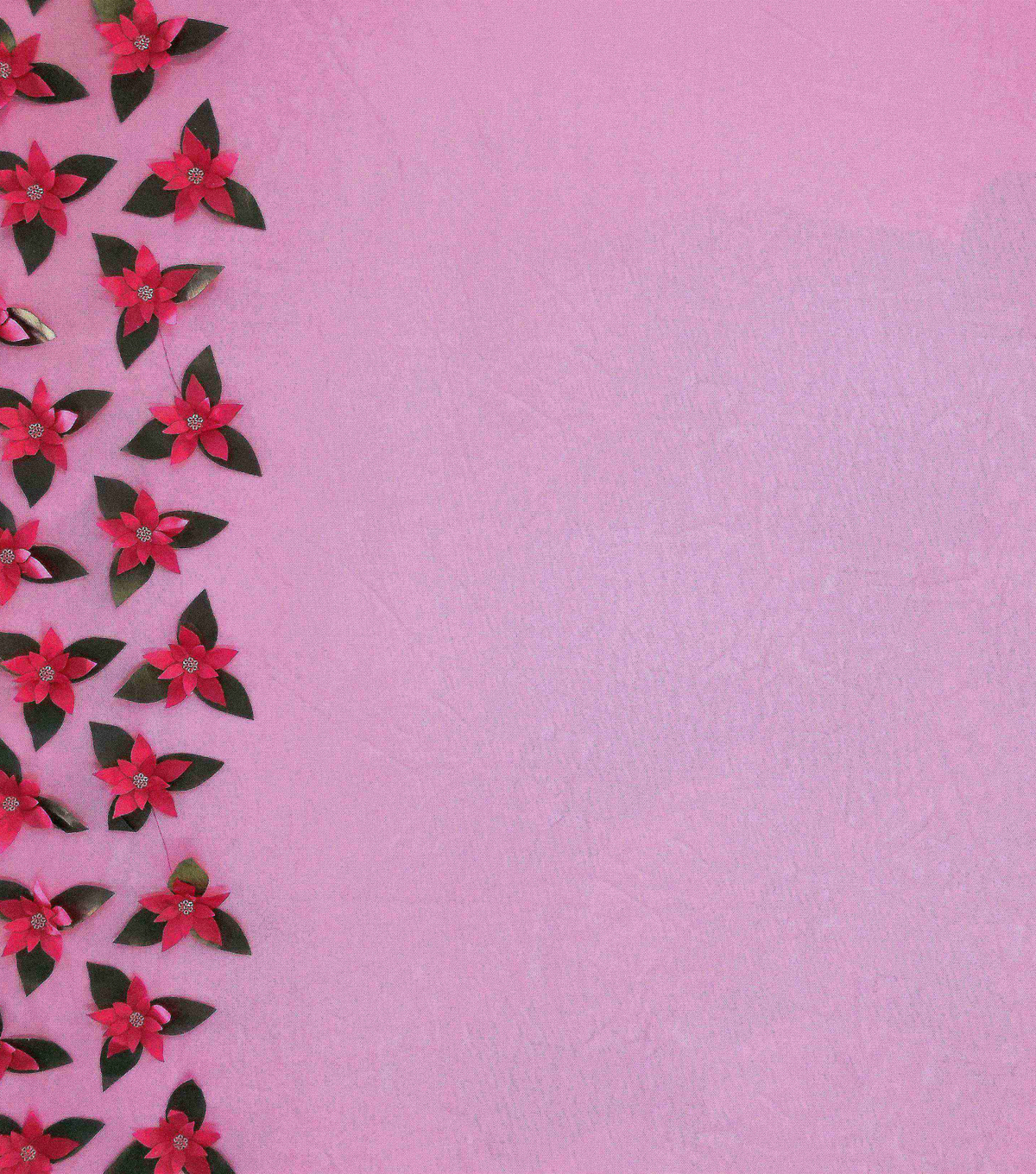Sew Sweet Decorating 3D Fabric 56\u0022-Poinsettia Border Red