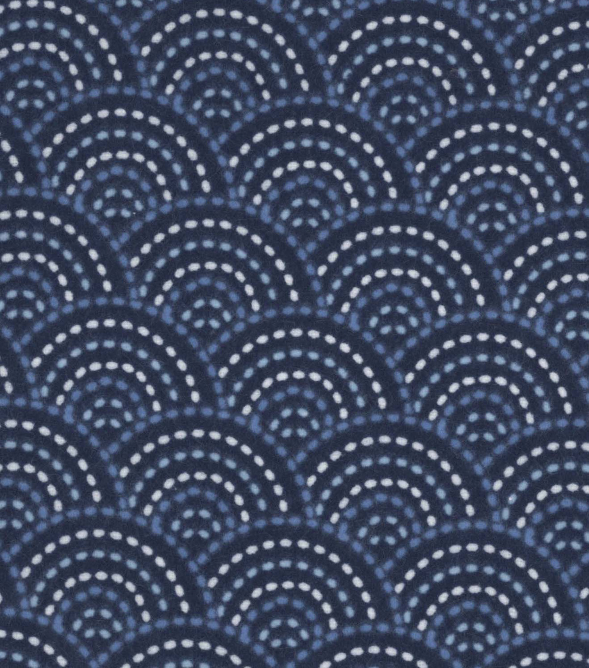 Snuggle Flannel Fabric 42\u0022-Twilight Dotted Scales Navy
