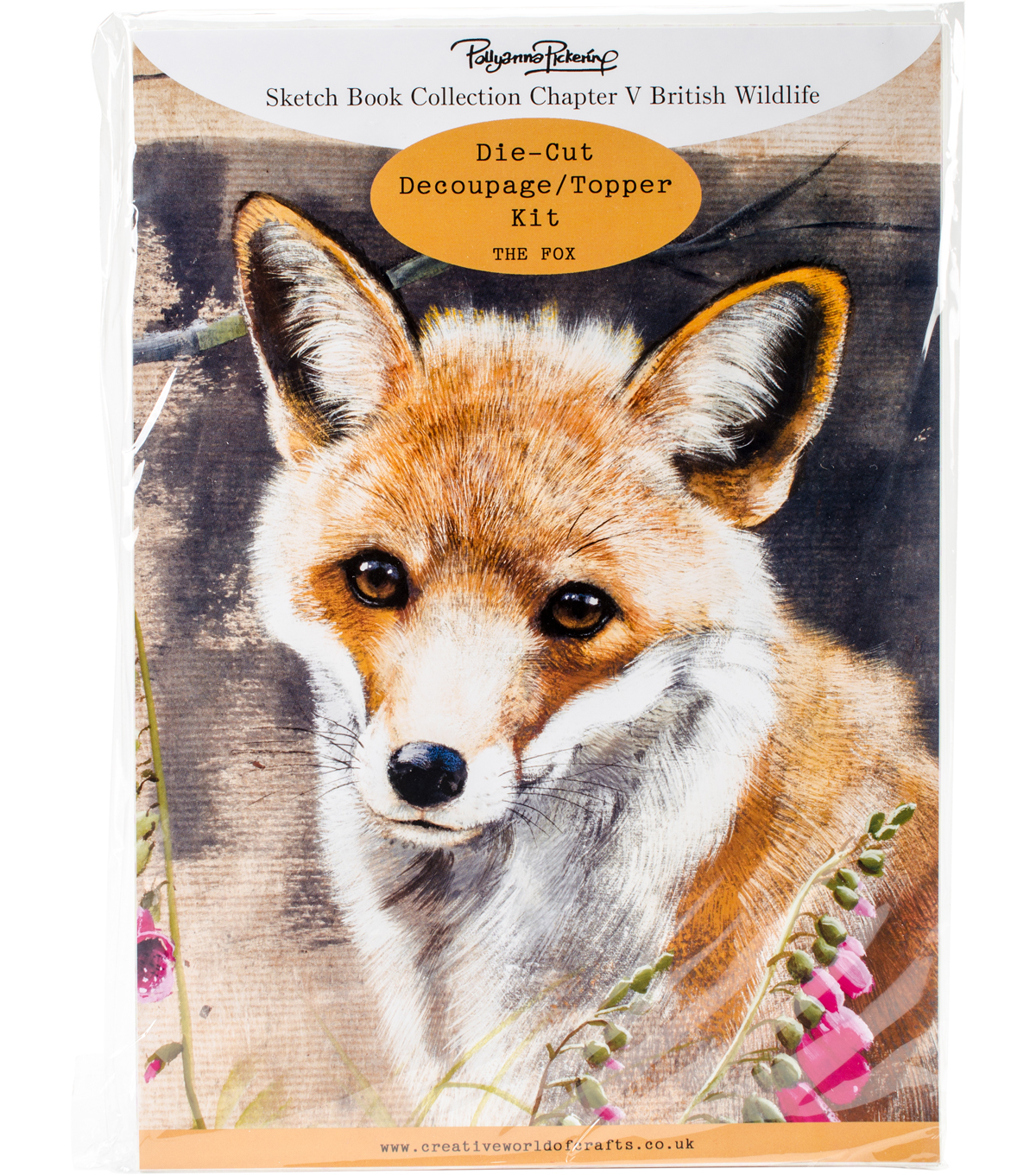 Pollyanna Pickering Sketch Book Ch.5 British Wildlife Kit-The Fox
