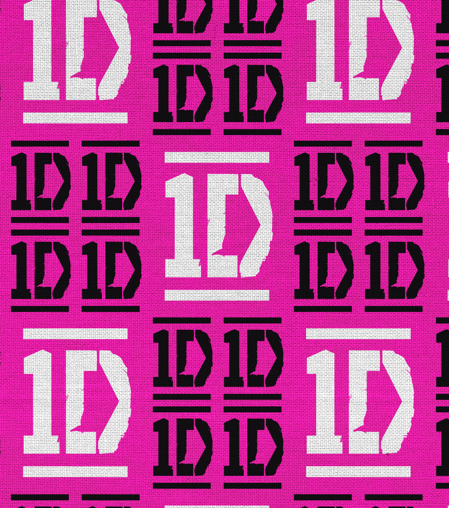 "One Direction Flannel Fabric 43""-Checkered Logo"