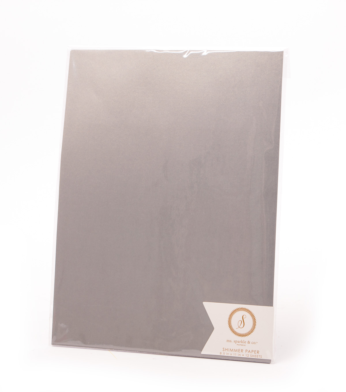 Ms. Sparkle & Co. Pack of 12 8.5\u0027\u0027x11\u0027\u0027 Shimmer Papers-Dark Gray
