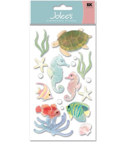 Vellum Dimensional Stickers-Sea Horses