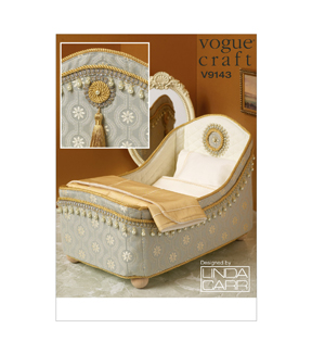 Vogue Patterns Dolls\u0027 Bed & Bedding-V9143