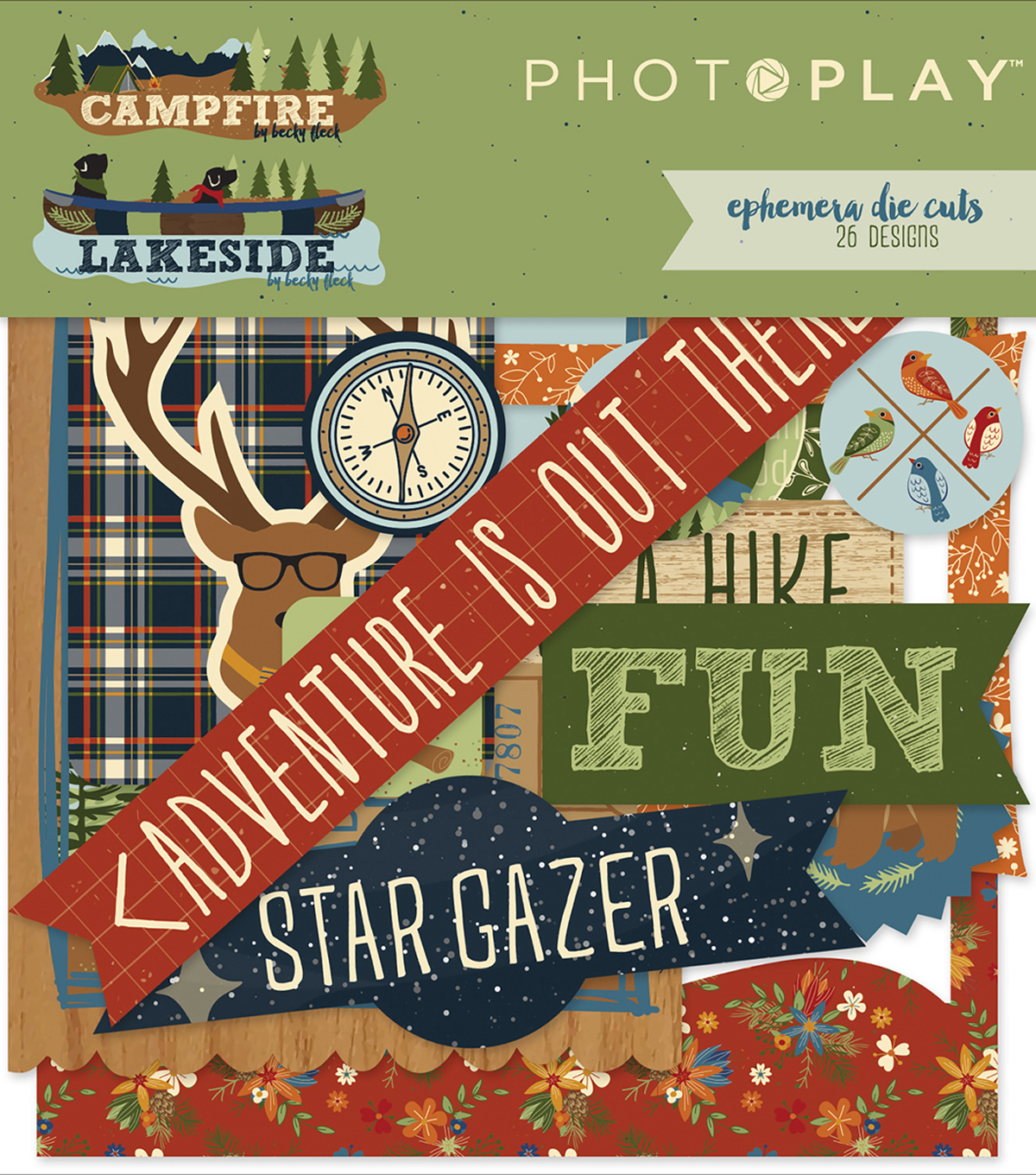 Photo Play Paper Ephemera Cardstock Die-Cuts-Campfire & Lakeside Combo