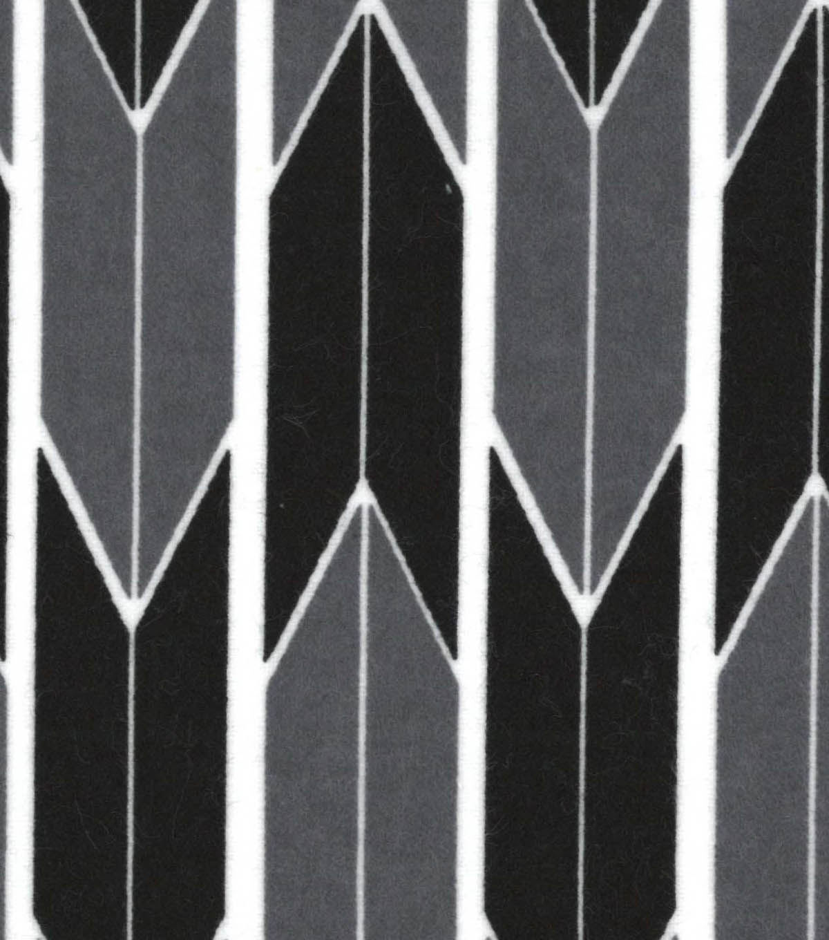 Snuggle Flannel Fabric 42\u0022-Black Gray Arrow Geo