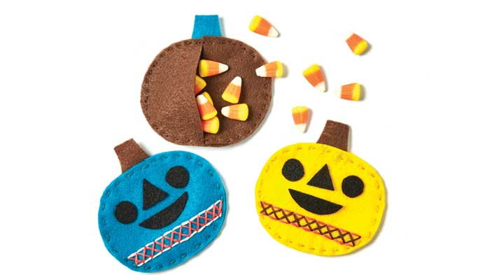 Kids Hand Sewing Treat Pouch