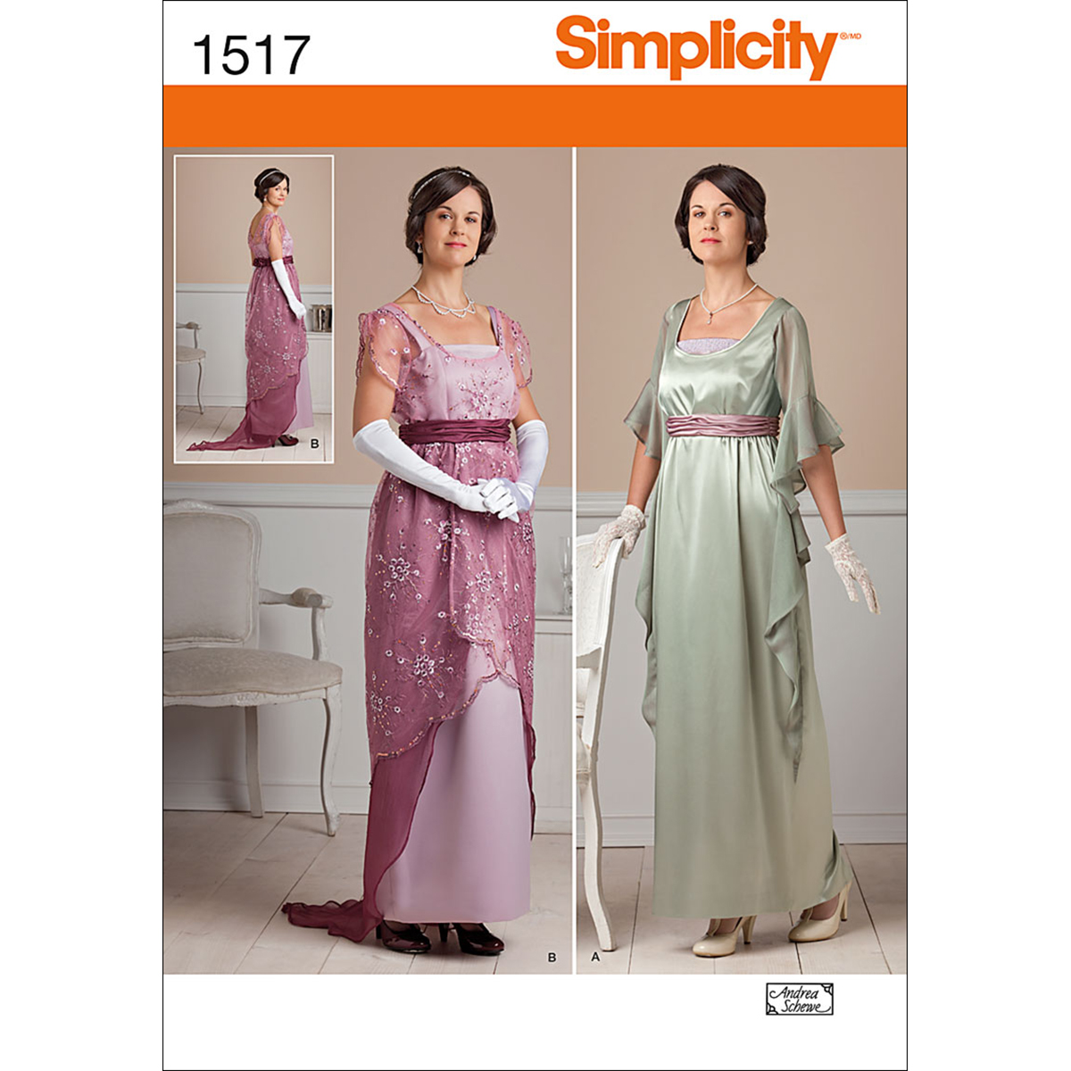 Simplicity Pattern 1517R5 14-16-18-2-Crafts Costumes