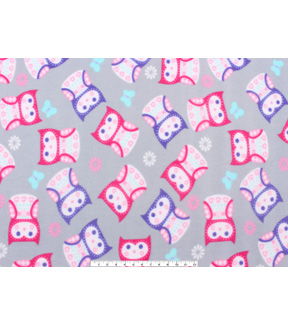 Anti-Pill Fleece Fabric 59\u0022-Patterned Owls