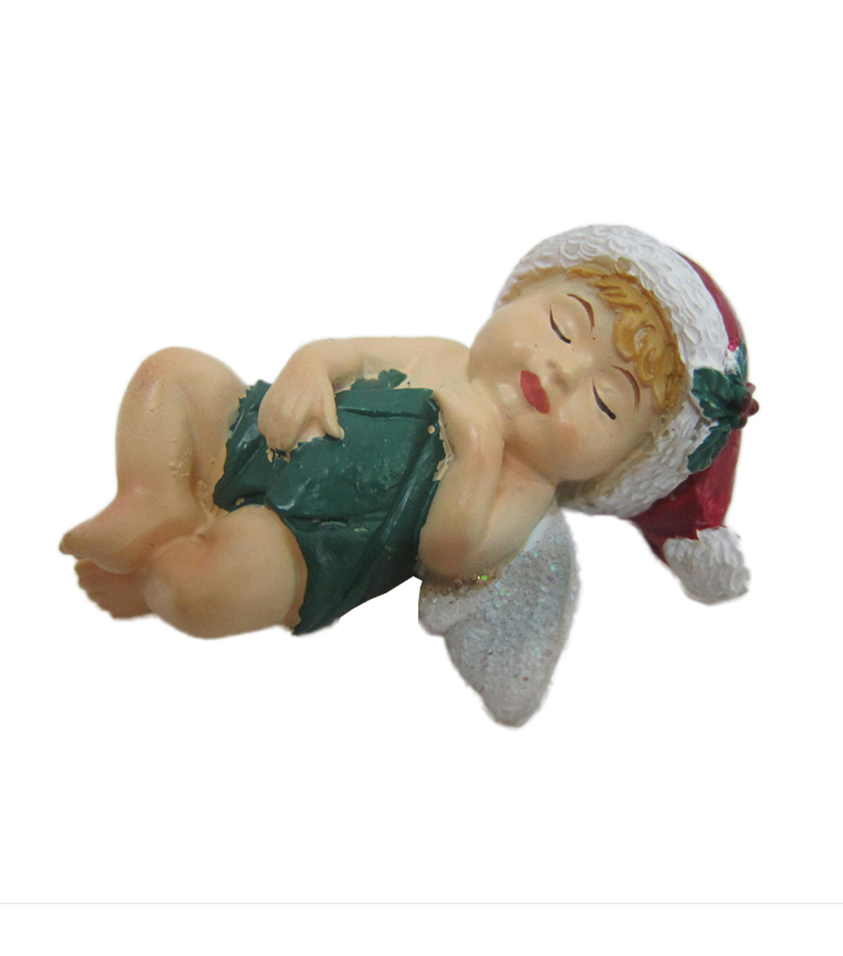 Maker's Holiday Christmas Littles Resin Back Sleeping Baby Fairy