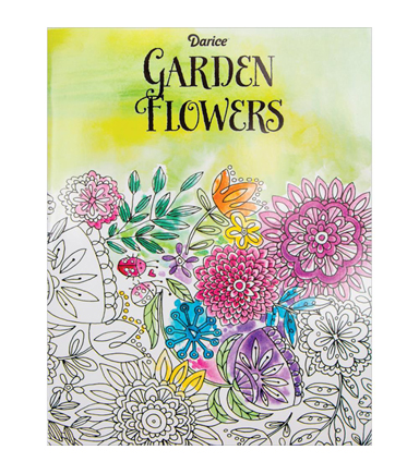 Adult Coloring Book-Darice Garden Flowers