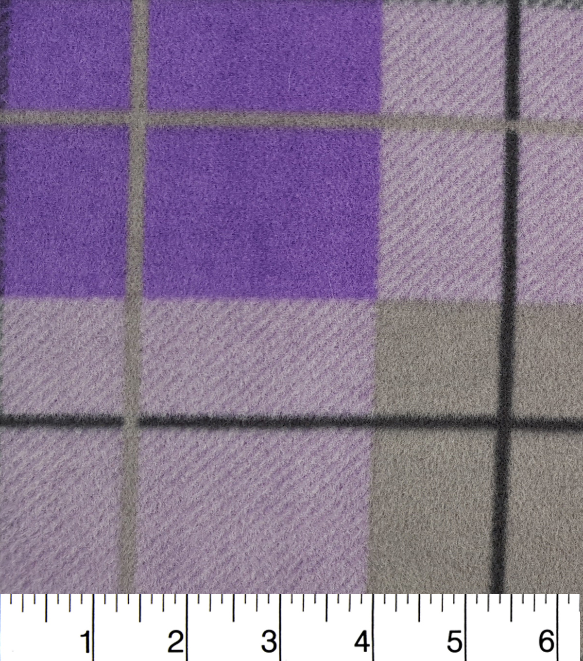 Anti-Pill Fleece Fabric 57\u0022-Hensley Purple Plaid