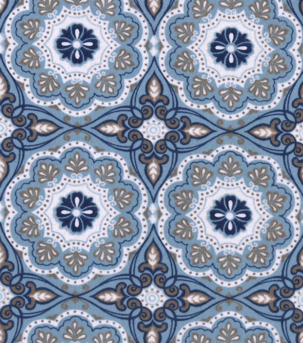 "Snuggle Flannel Fabric 42""-Serene Medallion"