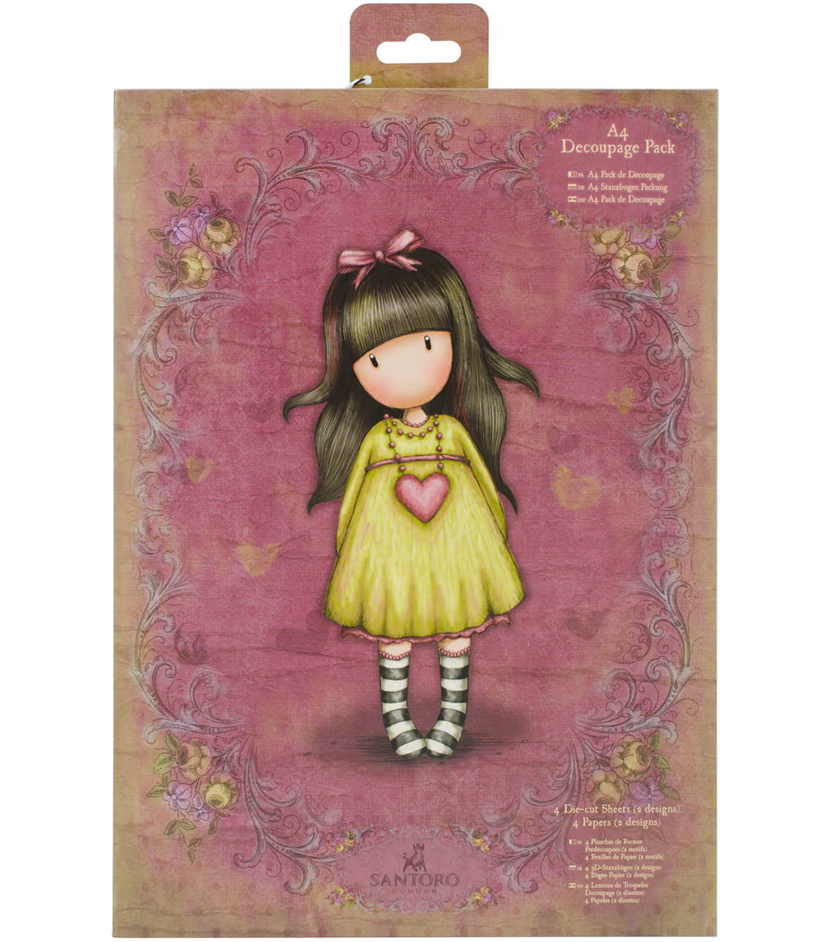 Santoro Gorjuss A4 Decoupage Pack-Heartfelt