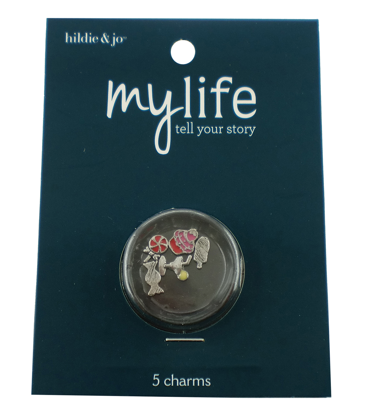 hildie & jo™ My Life 5 Pack Sweet Treats Silver Locket Charms