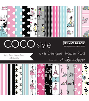 Penny Black Coco Style Paper Pad 6''x6''