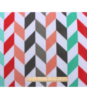 Blizzard Fleece Fabric 59\u0022-Dreamy Broken Chevron