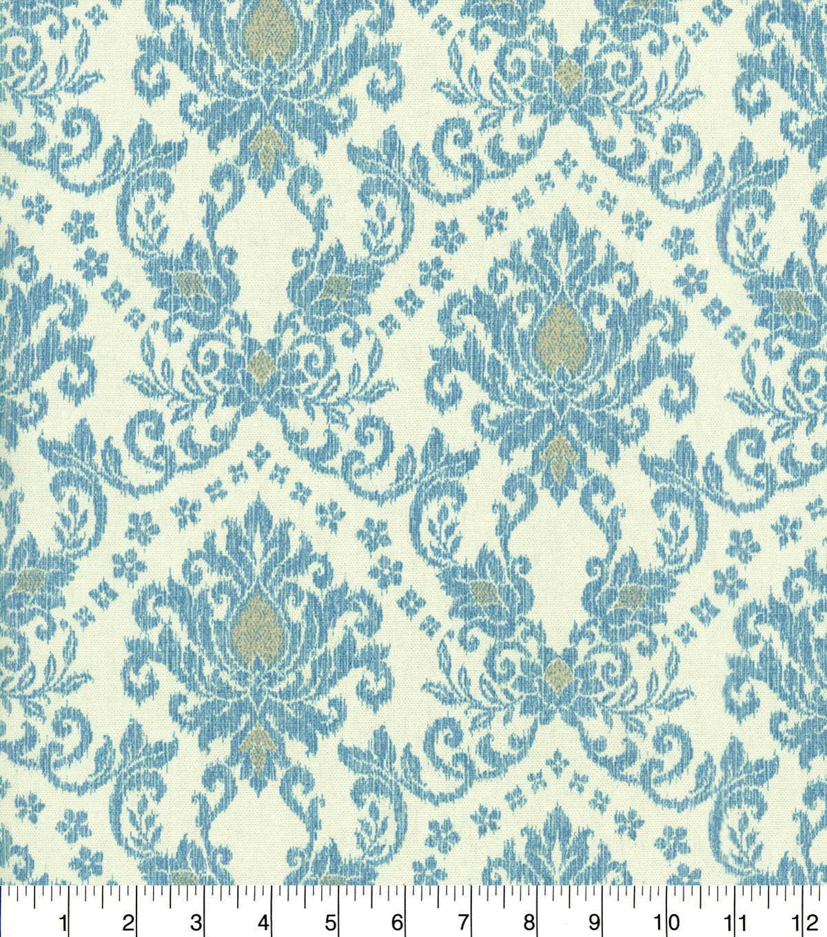 "Waverly Upholstery Fabric 54""-Tailored Romance Bluebell"