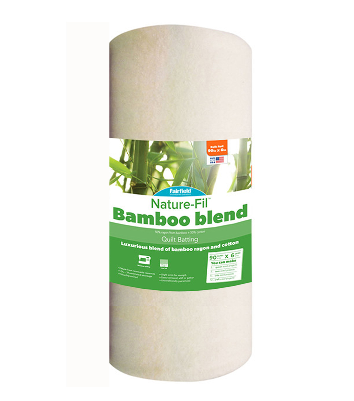 Fairfield® Nature-Fil™ Bamboo Blend Batting 90\u0027\u0027x6yds