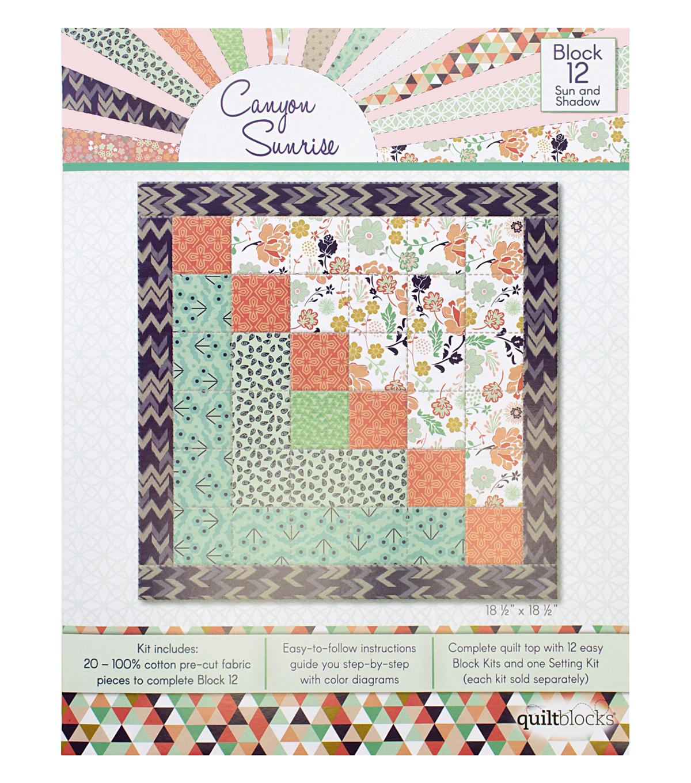 Quilt Block Canyon Sunrise 20-Pieces Block 12 Kit-Sun & Shadow | JOANN : joann fabrics quilt kits - Adamdwight.com