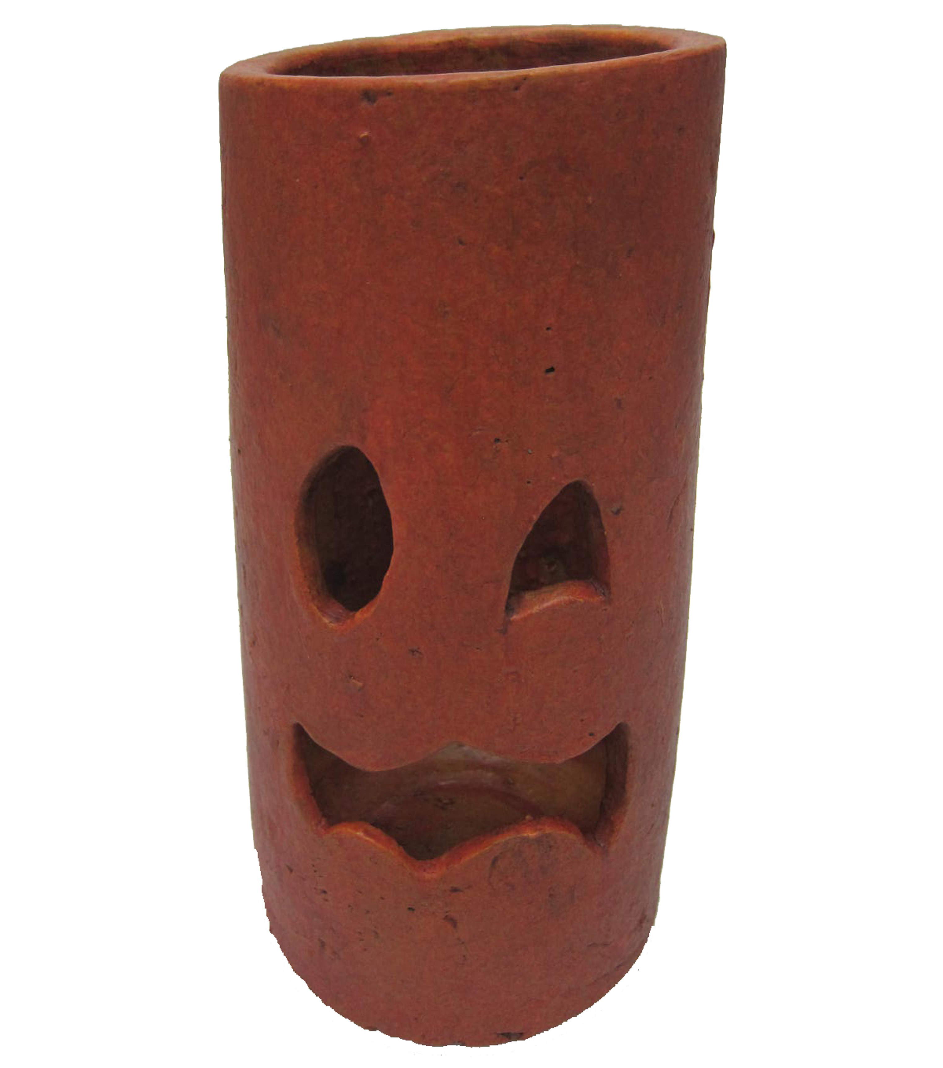Maker's Halloween Small Terracotta Pumpkin Hurricane-Orange