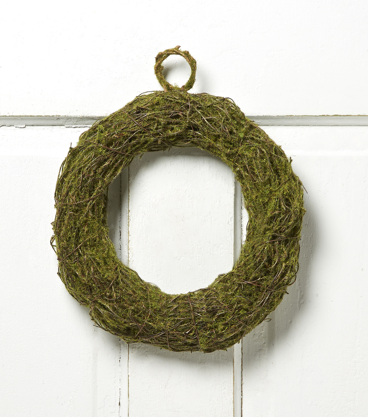 Bloom Room 10'' Moss Twig Rattan Wreath-Green