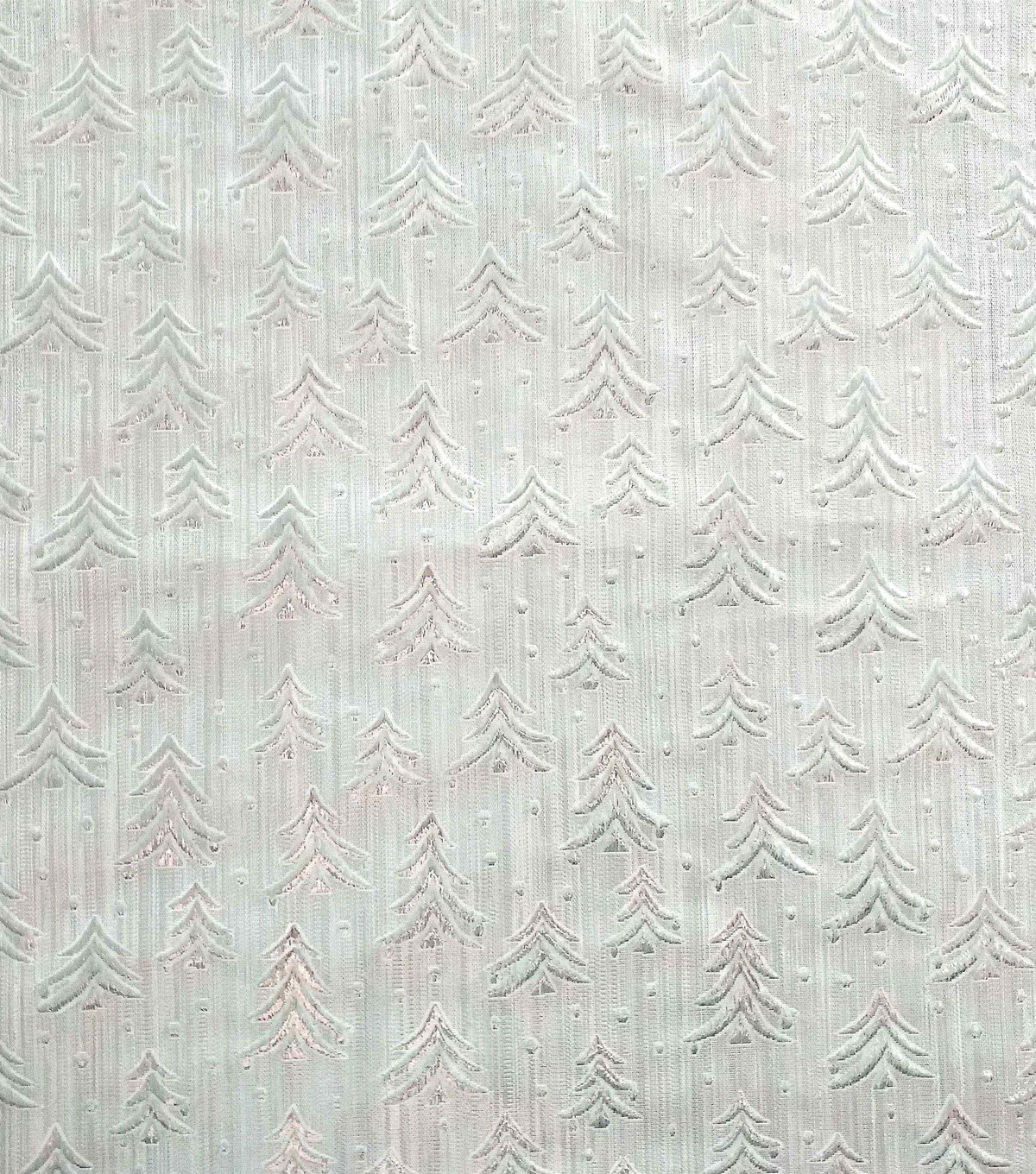 Sew Sweet Embossed Tree Lame Decorating Fabric 58\u0022-Silver