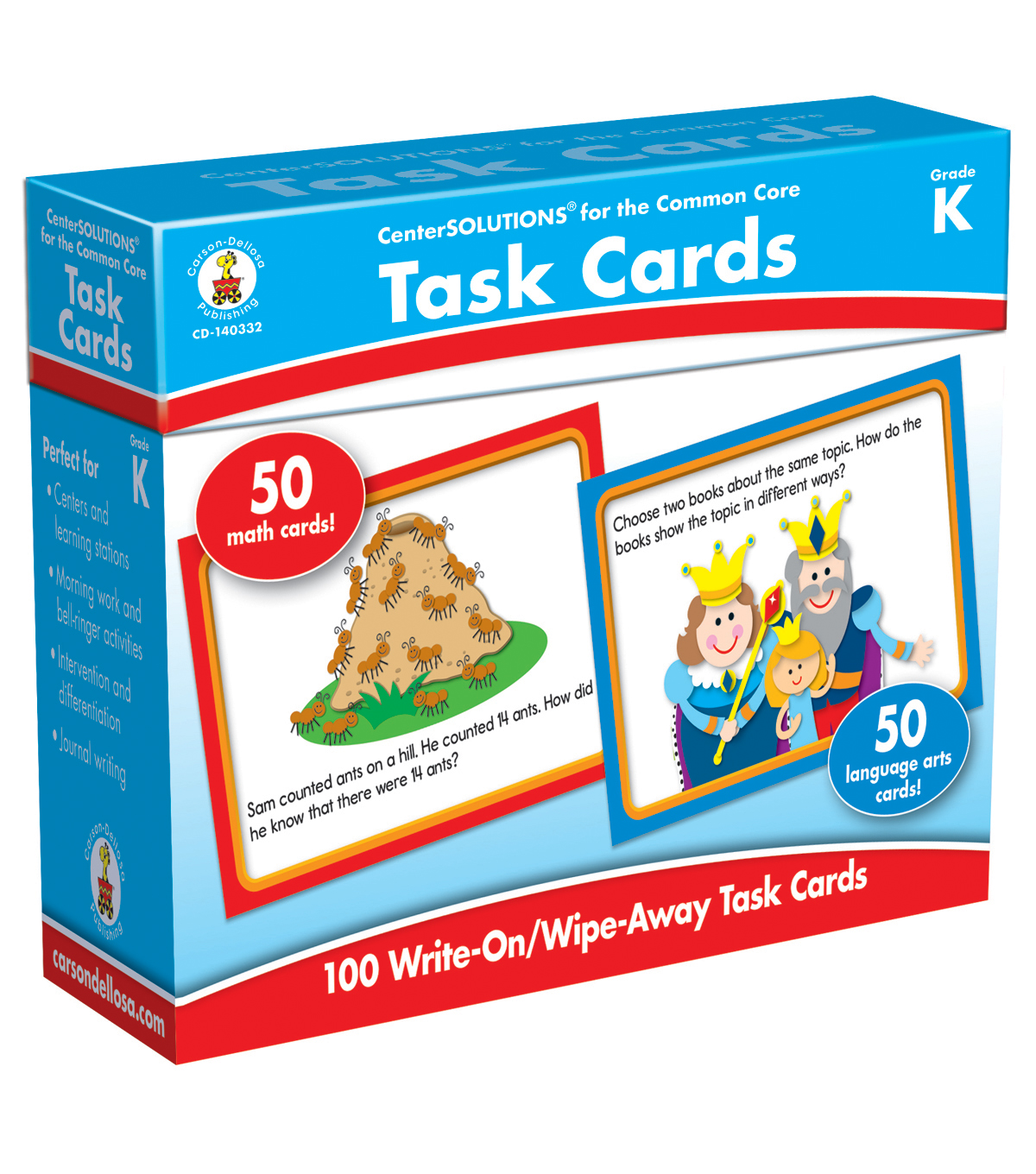 Task Cards Learning Cards 100ct Grade K