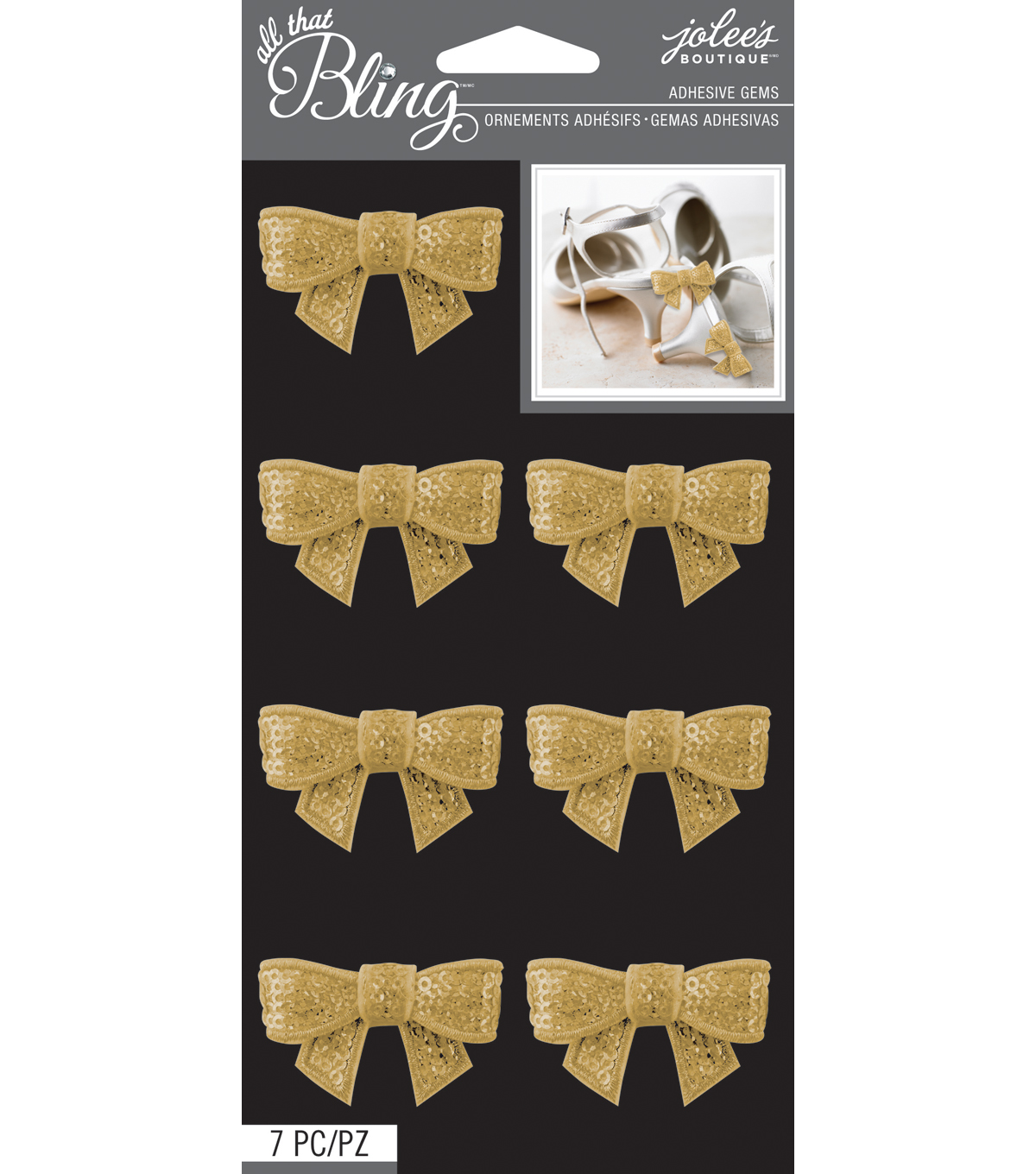 All That Bling - Jolee\u0027s Boutique - Gold Sequins Bow Bling