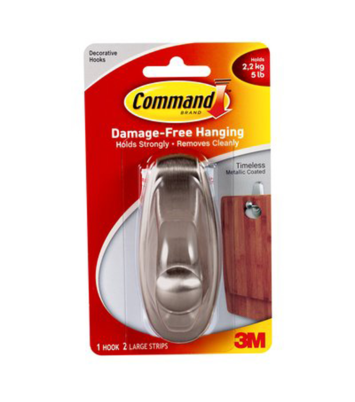 Command Large Timeless Decorative Hook