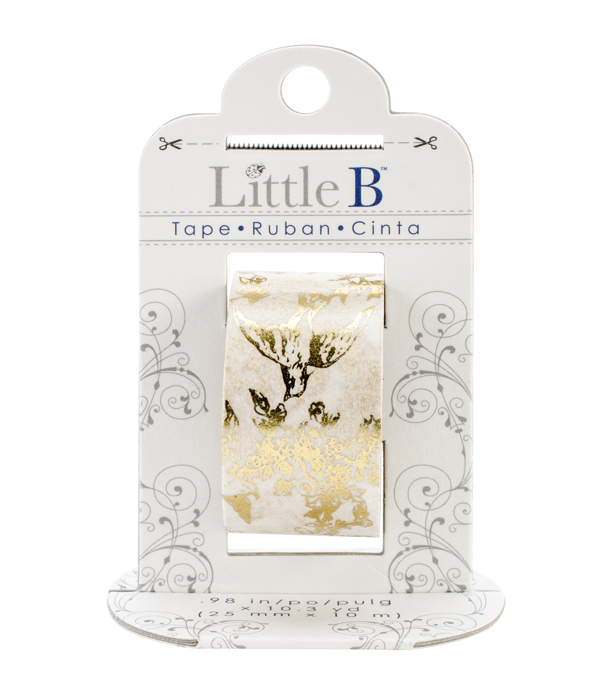 Little B Foil Tape 25mmX10m-Gold Toile