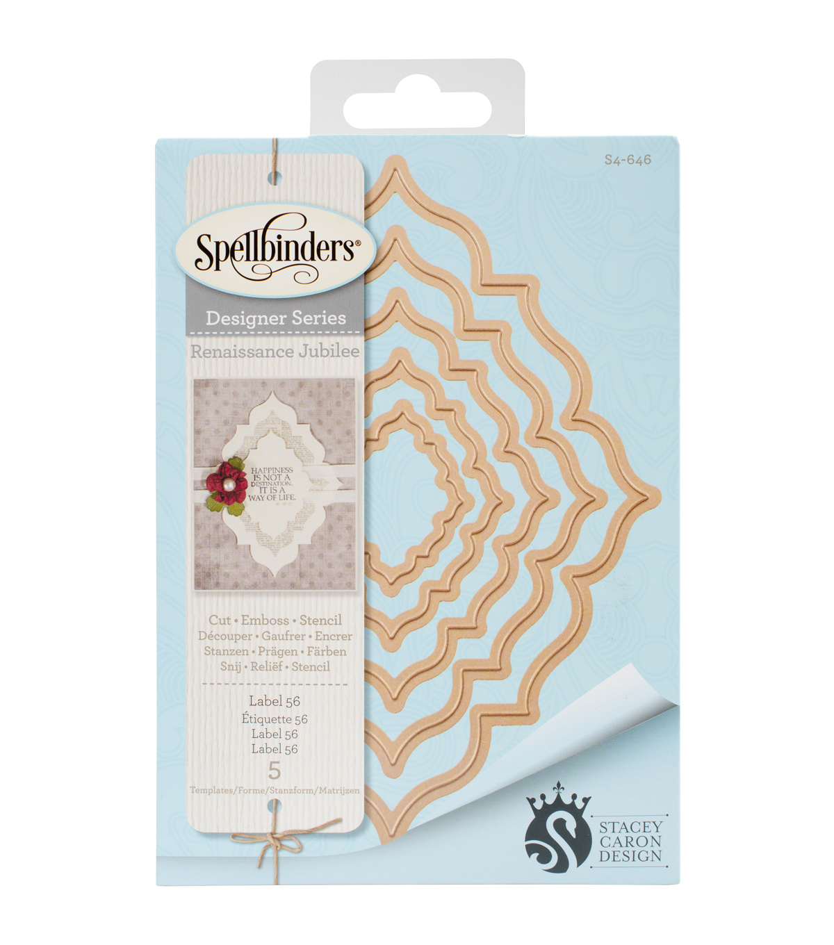 Spellbinders™ Nestabilities™ 5 Pack Etched Dies-Label 56