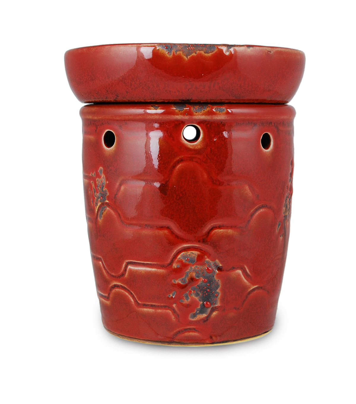 Hudson 43™ Candle & Light Historic Candle Warmer-Red