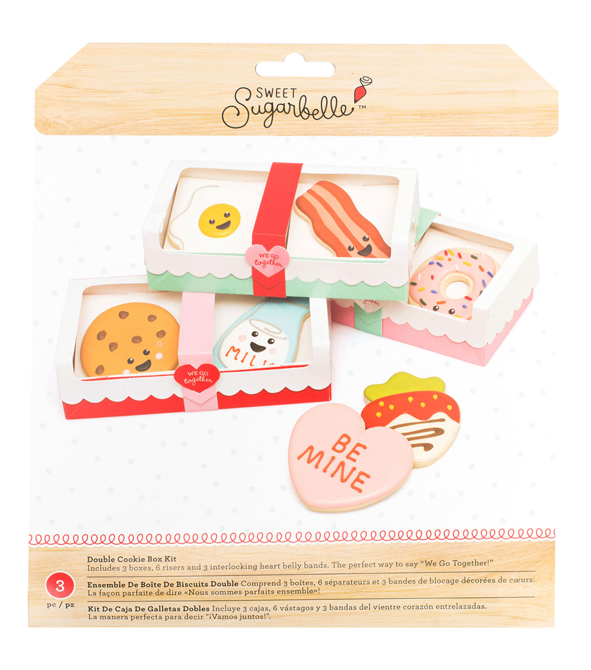 Sweet Sugarbelle Double Cookie Box-Bacon & Egg