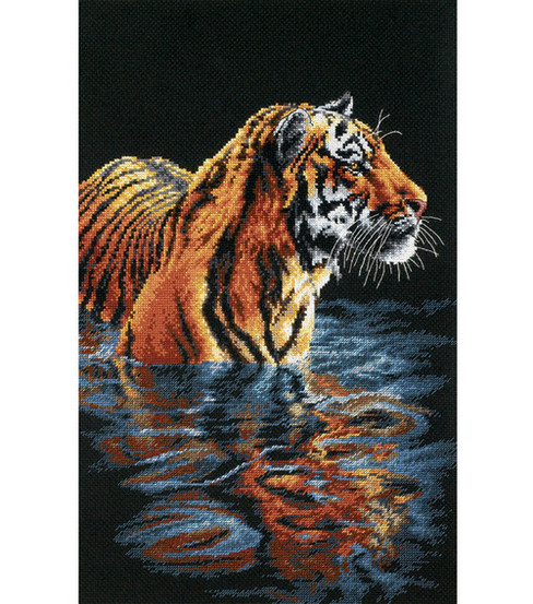 Dimensions® 9\u0022x14\u0022 Counted Cross Stitch-Tiger Chilling Out