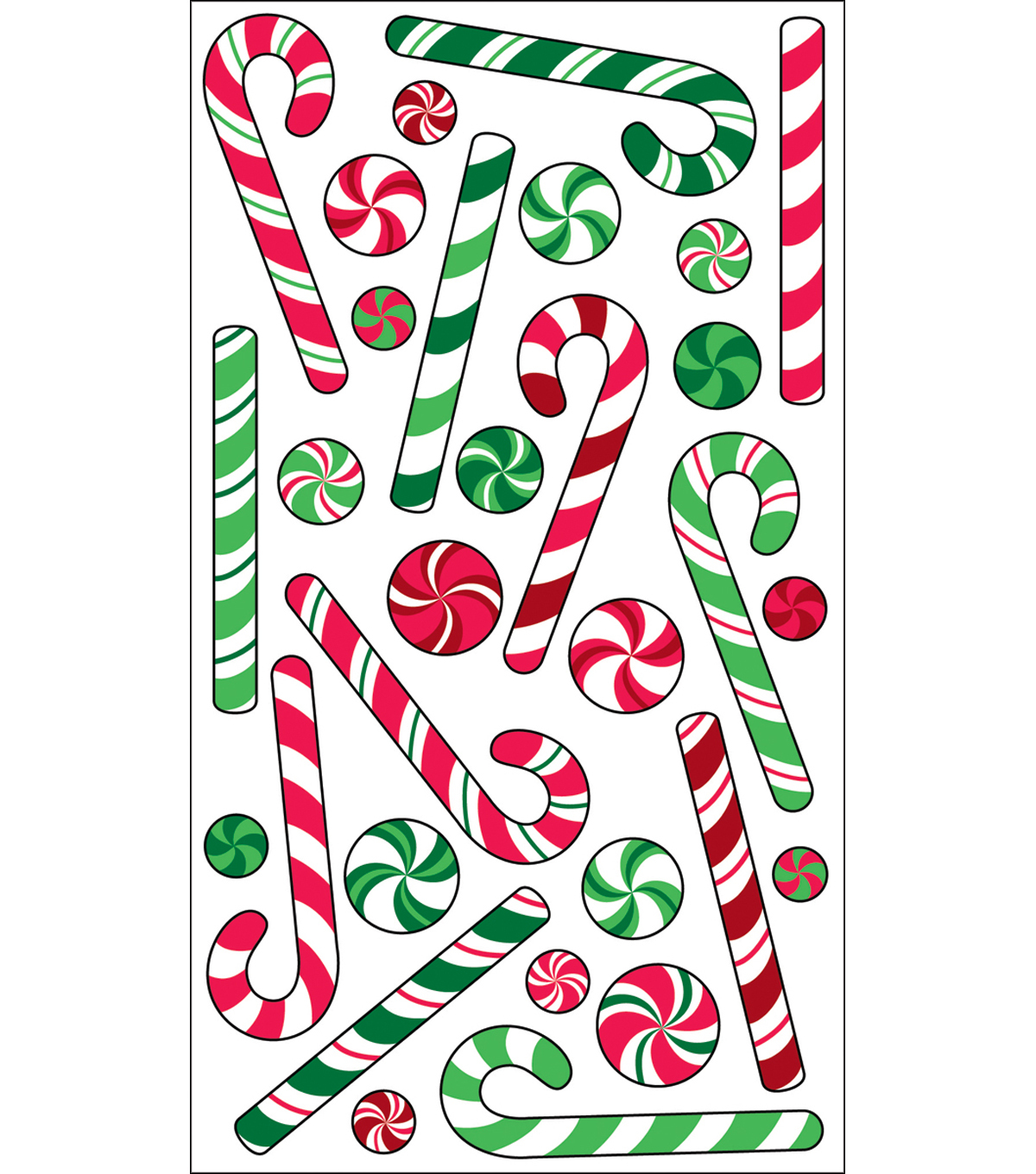 EK Success Sparkler Classic Stickers-Candy Canes